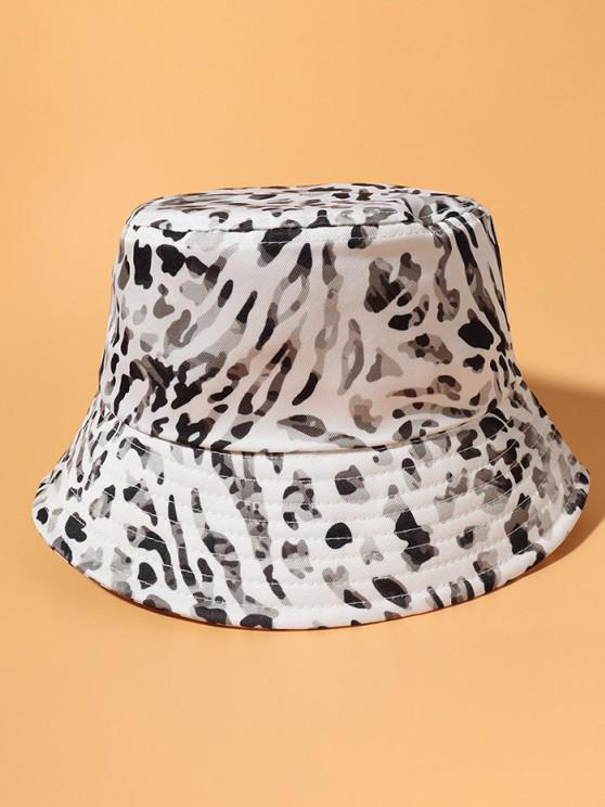 outfits Allover Camouflage Print Casual Bucket Hat - WHITE