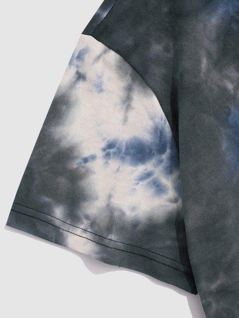 new Tie-dye Short Sleeve T-shirt - GRAY M Mobile