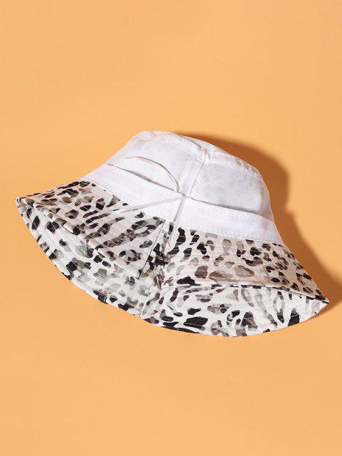 Allover Camouflagedruck Lässige Bucket Hut - Weiß  Mobile