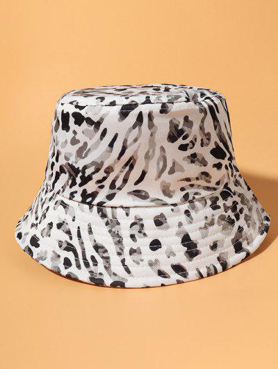 Allover Camouflage Print Casual Bucket Hat - White
