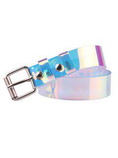 Iridescent Transparent Square Buckle Belt - Twilight