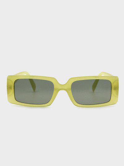 Rectangle Frame Slim Semi-Transparent Sunglasses - Avocado Green