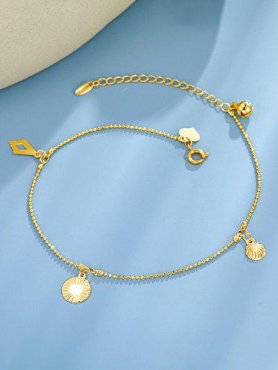 Shell Bell Charm Gold Plated Anklet - Golden