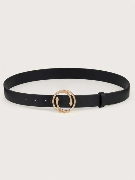 outfits Double Snake Buckle Decorative Belt - BLACK