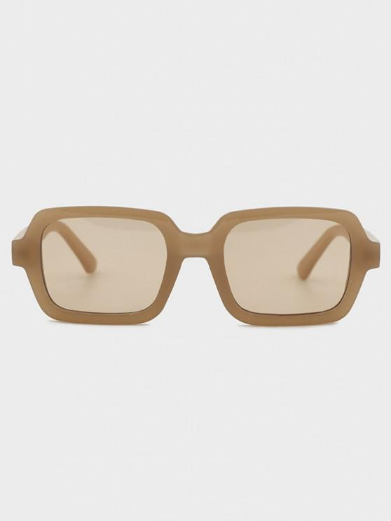 lady Retro Travel Rectangle Sunglasses - CAMEL BROWN