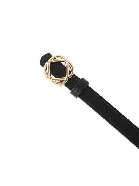 Kurzer Knotenform-Schnallegürtel - Schwarz  Mobile