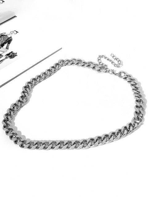 Kurze Dicke Taillenkette - Silber  Mobile