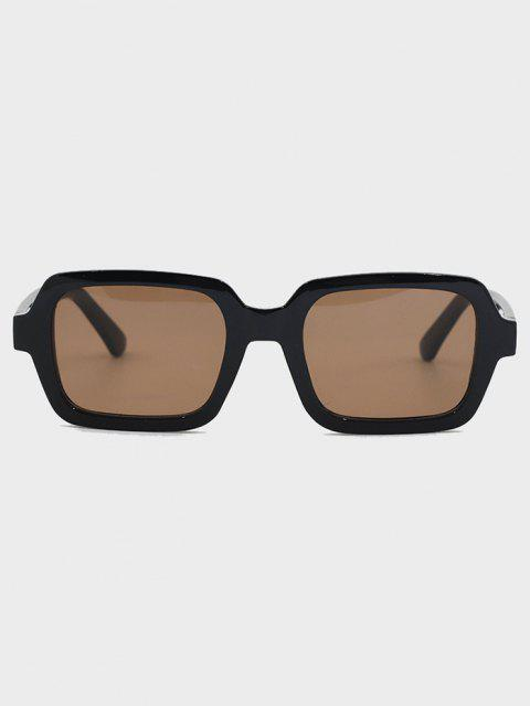 ladies Retro Travel Rectangle Sunglasses - BLACK  Mobile