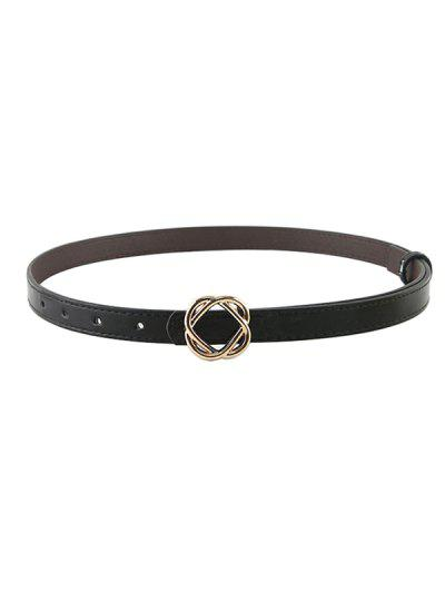 Brief Knot Shape Buckle Belt - Black