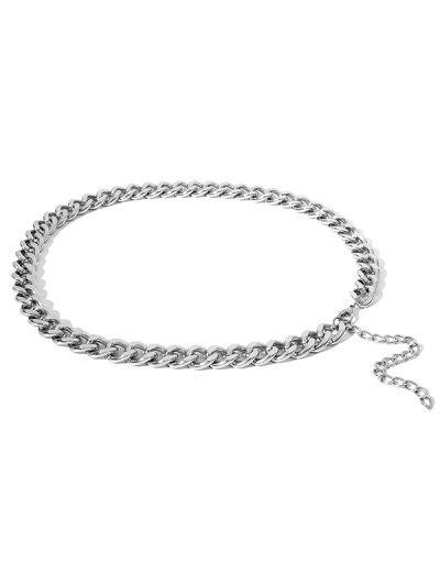 Brief Thick Waist Chain - Silver