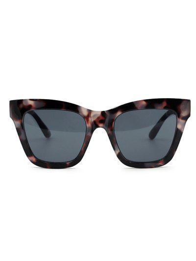 Retro Tortoise Shell Square Sunglasses - Gray