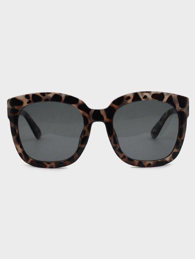 Tortoise Pattern Square Sunglasses - Gray