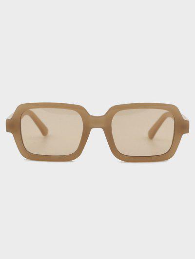 Retro Travel Rectangle Sunglasses - Camel Brown