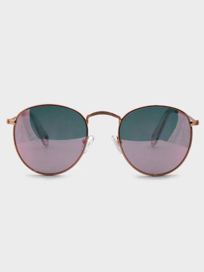 Retro Round Metal Sunglasses - Golden