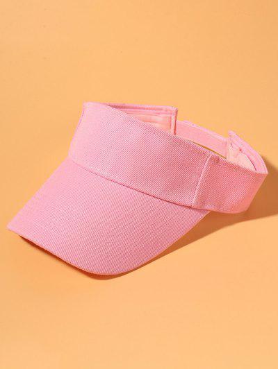 Solid Cotton Visor Cap - Pink