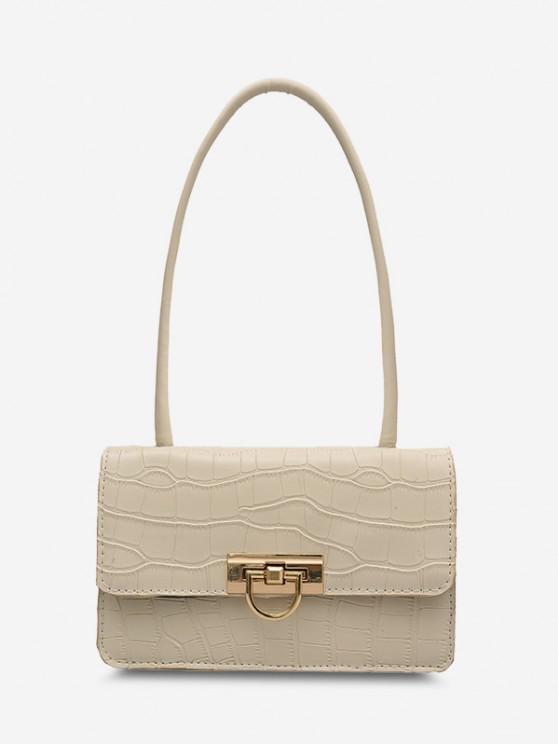 shops Animal Embossed Flap Shoulder Bag - WHITE