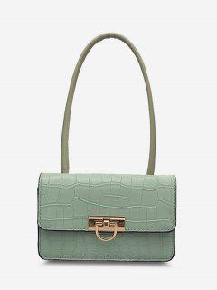 Animal Embossed Flap Shoulder Bag - Light Sea Green