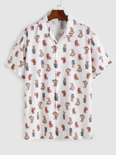 Spielzeug Bärn Muster Kurzarm Hemd - Weiß XL Mobile