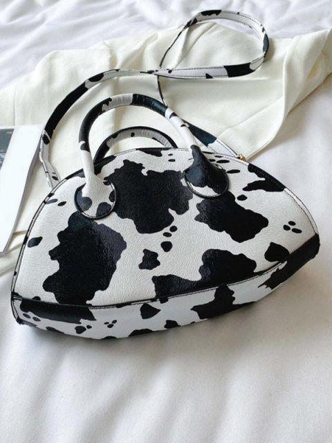 Tierdruck Unregelmäßige Style Dual Griff Umhängetasche - Weiß  Mobile