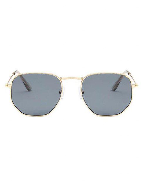 Unregelmäßiger Rahmengrau-Tafel-Metall-Sonnenbrillen - Champagner Gold  Mobile