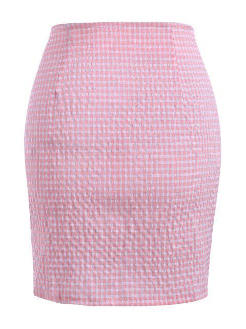 Mini Falda con Corte de Guinga - Rosa Claro M Mobile