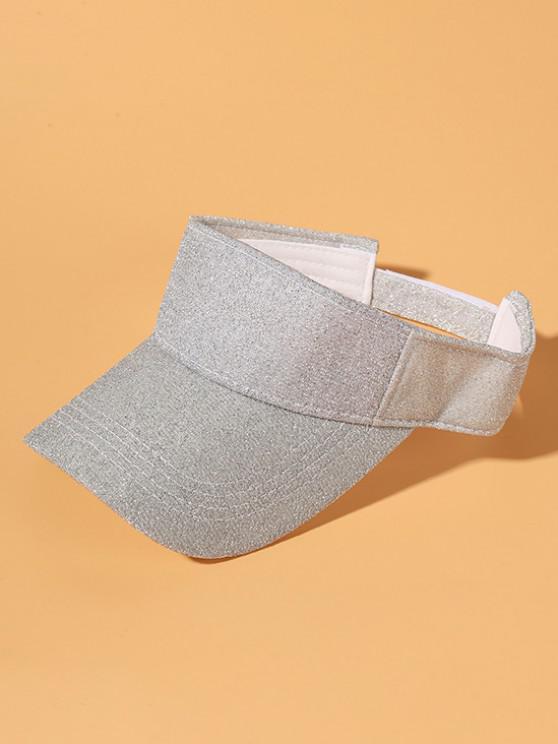 Glitter Anti-Sunburn Casual Visor Cap - فضة