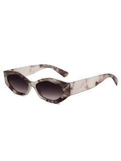 Irregular Wide Leg Sunglasses - Smokey Gray