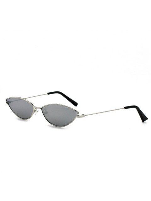 outfit Retro Eye Frame Slim Metal Sunglasses - GRAY CLOUD  Mobile