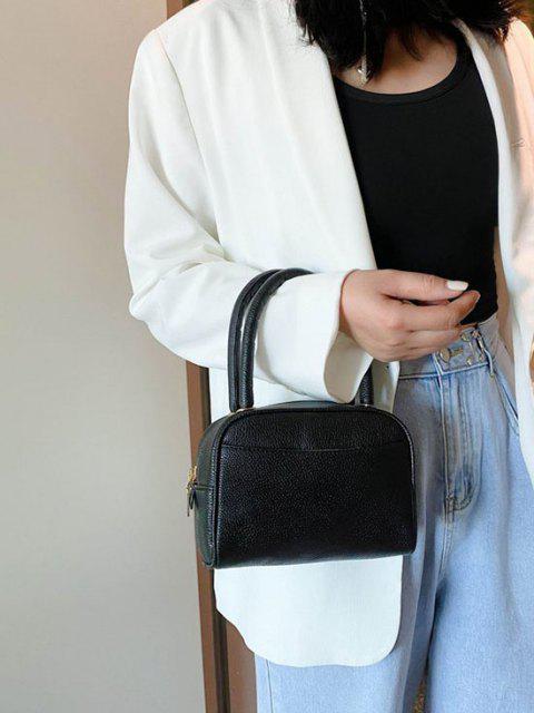 Minimalistische Körnige Doppelgriff-Mini-Taschen-Tasche - Schwarz  Mobile