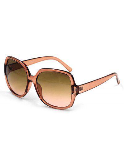 Retro Oversized Square Frame Gradient Sunglasses - Bee Yellow