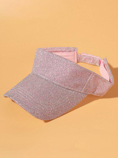 Glitter Anti-Sunburn Casual Visor Cap - Pink