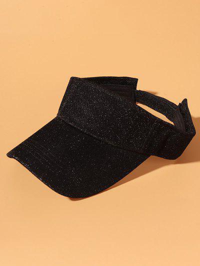Glitter Anti-Sunburn Casual Visor Cap - Black