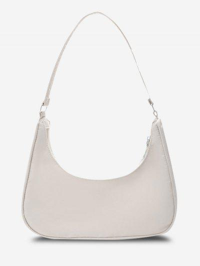 Minimalistas De Nylon Color Sólido Bolsa De Hombro - Blanco Cálido