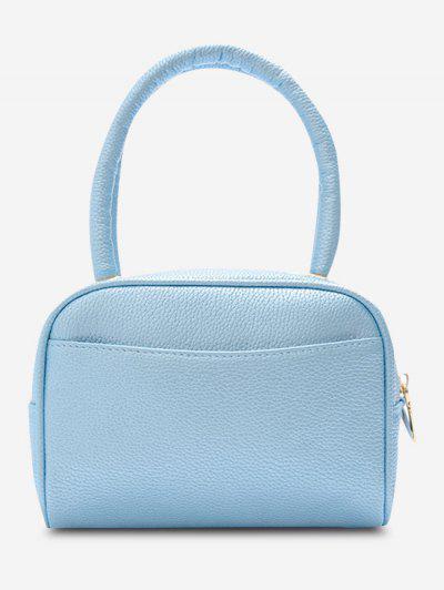 Minimalistische Körnige Doppelgriff-Mini-Taschen-Tasche - Hellblau