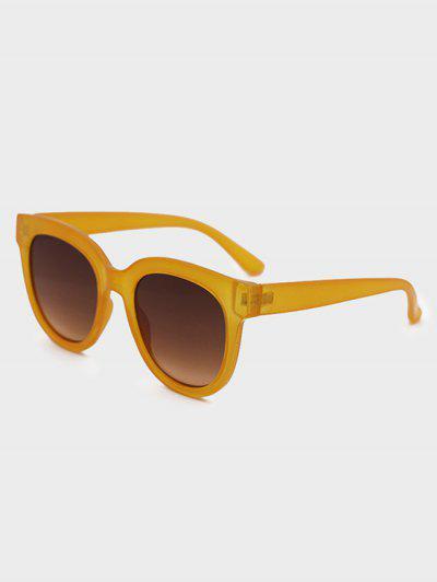 UV Schutz Runde Sonnenbrille - Kürbis Orange