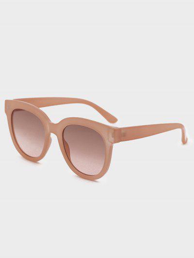 UV Protection Round Sunglasses - Deep Peach