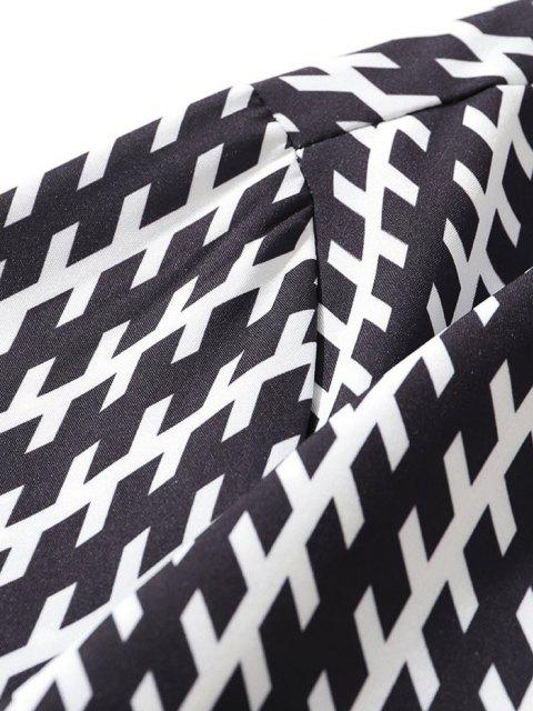 Kurzarm-Allover-Druck-Shirt - Schwarz XXL Mobile