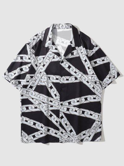 Chain Short Sleeve Shirt - Black L