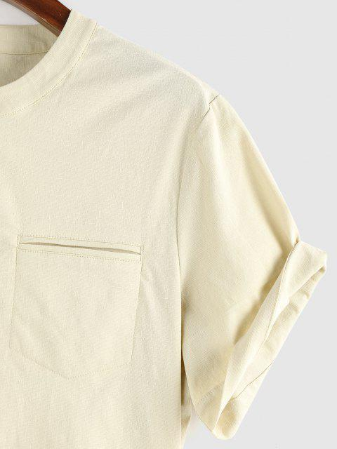 ZAFUL Kurzärmliges Einfarbiges Hemd - Hellgelb S Mobile