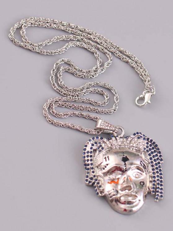 Personalized Face Hip Hop Necklace - فضة