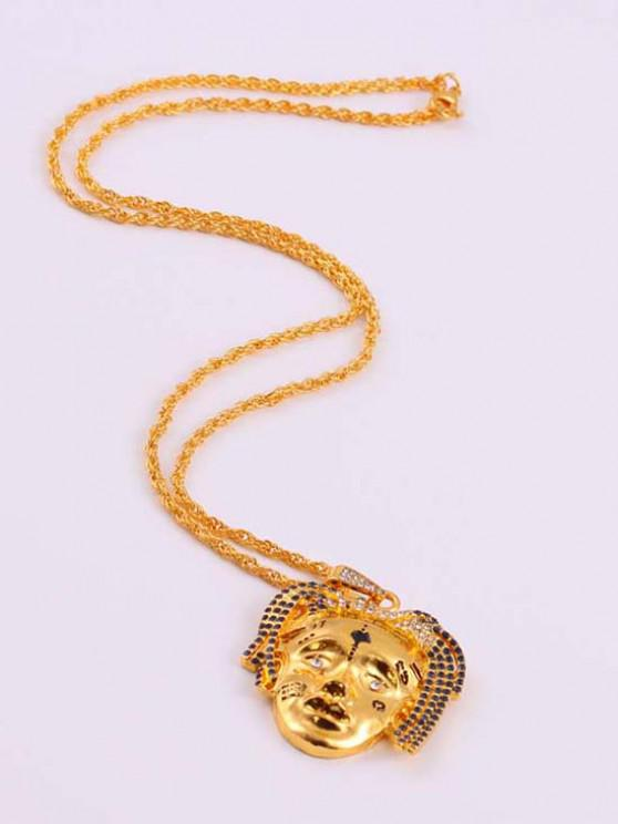 chic Personalized Face Hip Hop Necklace - GOLDEN