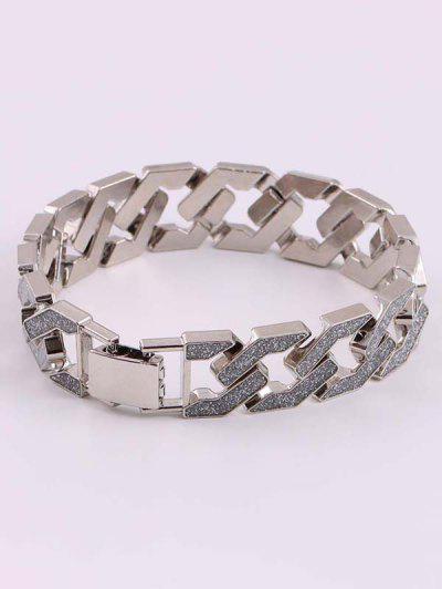 Hohle Glitter Dicke Kettenarmband - Silber