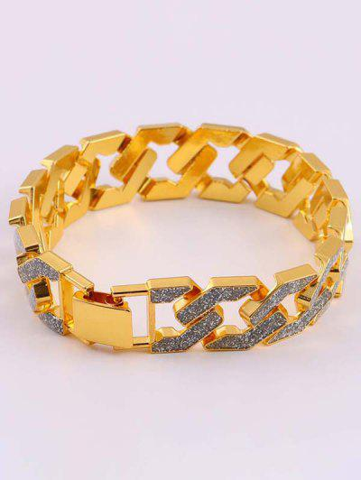 Hollow Glitter Thick Chain Bracelet - Golden