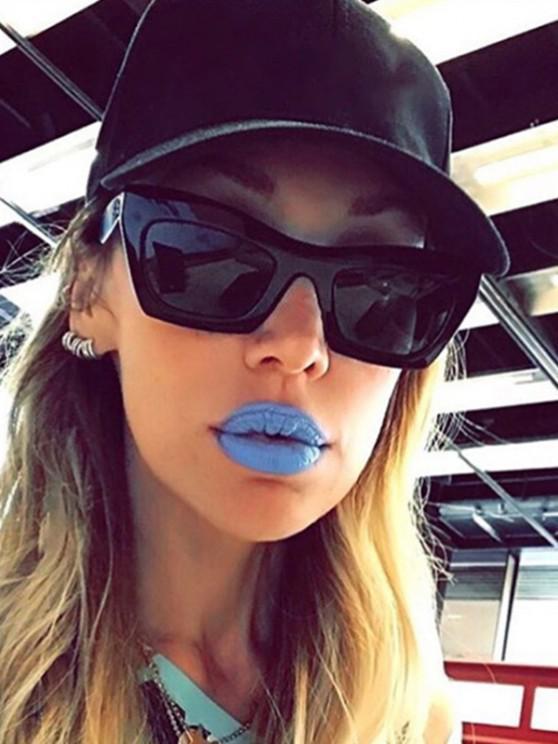 lady Studded Temple Rectangle Sunglasses - BLACK