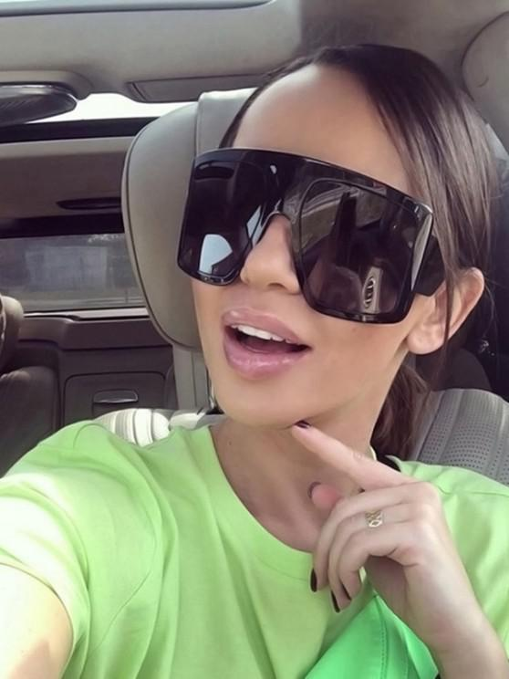 best Oversized Irregular Anti UV Sunglasses - BLACK