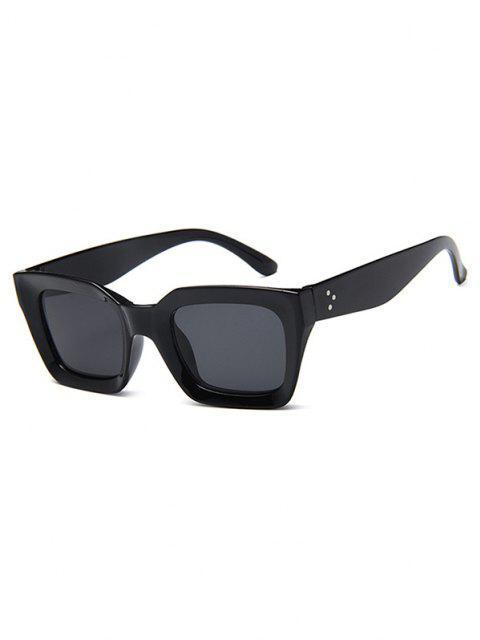 Beschlagene Temple Rechteck Sonnenbrille - Schwarz  Mobile