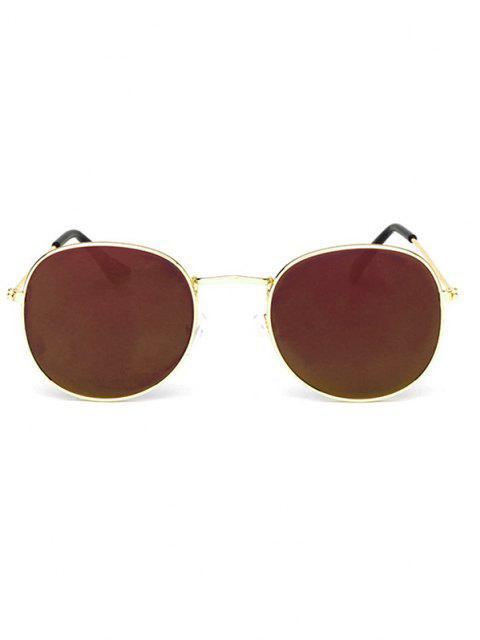 Klassische Runde Metall Sonnenbrille - Dunkles Lila  Mobile