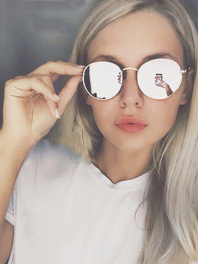 Classic Round Metal Sunglasses - Silver