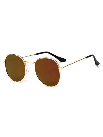 Klassische Runde Metall Sonnenbrille - Dunkles Lila