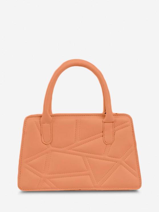 online Irregular-Quilted Top Handle Chain Crossbody Bag - ORANGE